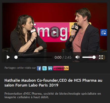 Nathalie Maubon Co-founder,CEO de HCS Pharma au salon Forum Labo Paris 2019